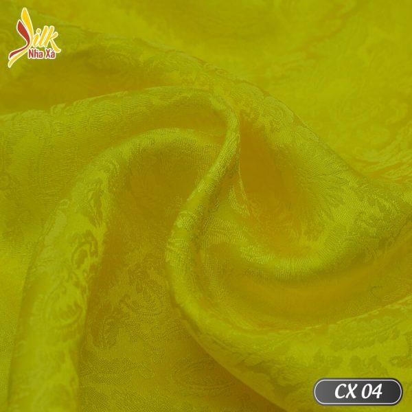 Phá cách từ hoa văn cúc truyền thống. Lụa hoa cúc xoáy đem lại sự mới mẻ trẻ trung - CX04