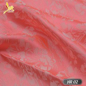 Vải lụa tơ tằm pha tơ bóng Viscose kiểu dệt Jacquard nhẹ thoáng, bóng mịn óng ánh đổi màu dưới nắng - HR02
