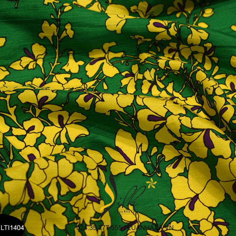 Vải lụa hoa Nha Xá