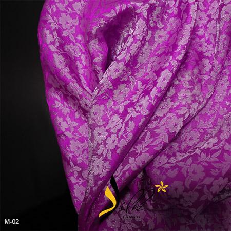 Lụa tơ tằm hoa cúc