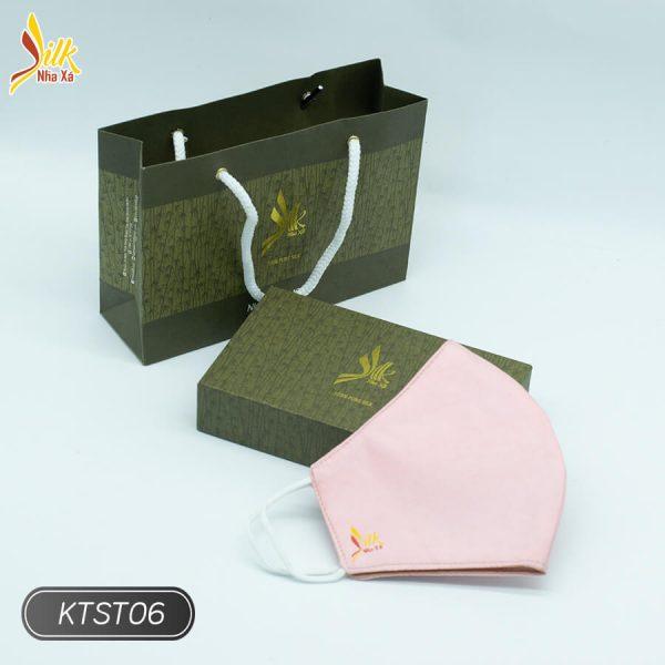 Khẩu trang lụa tơ tằm Nhaxasilk-KTST06
