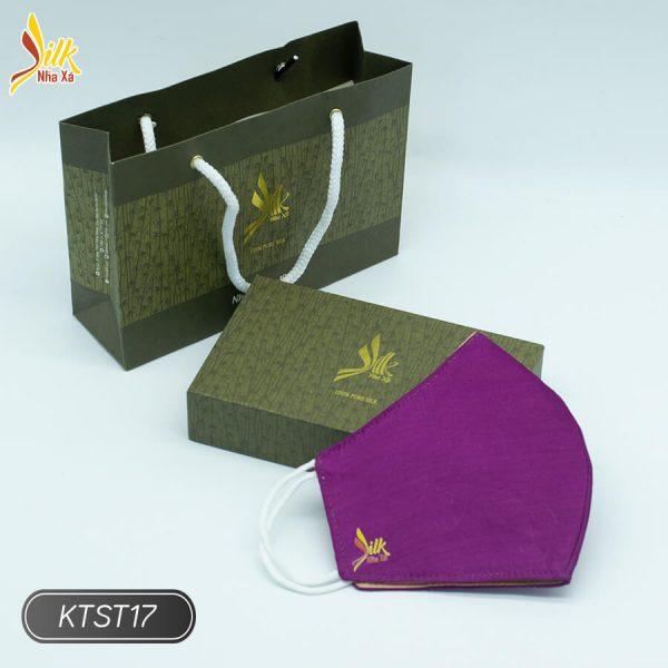 Khẩu trang lụa tơ tằm Nhaxasilk-KTST17